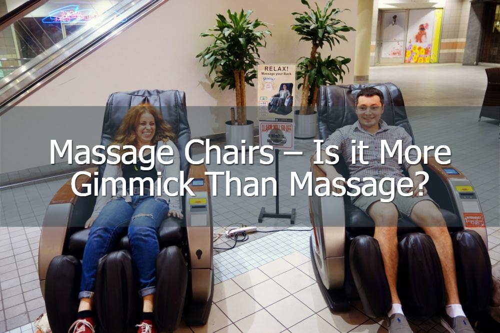 massage chairs gimmick