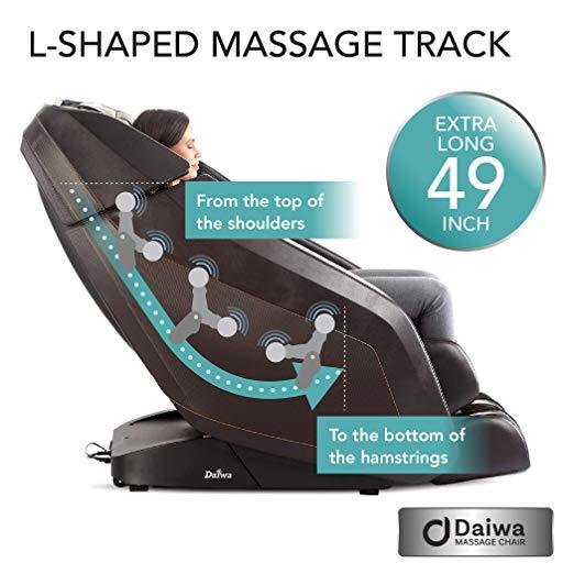 l shaped massage track daiwa massage chair